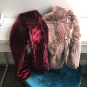 Faux fur scarfs 2 for sale